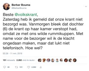Tweet Volkskrant